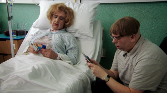 Recycled cereal packets on BBC2's Psychoville